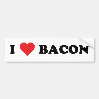 I Heart Bacon Bumper Sticker