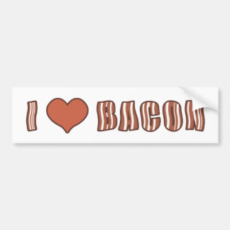 I Heart Bacon Bumper Sticker 001