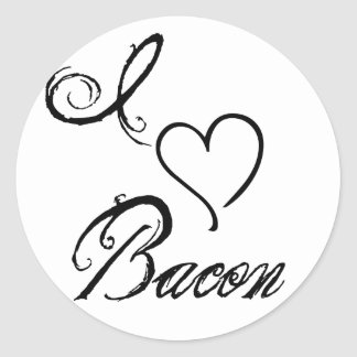I Heart Bacon Classic Round Sticker