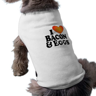 I (heart) Bacon & Eggs - Dog T-Shirt