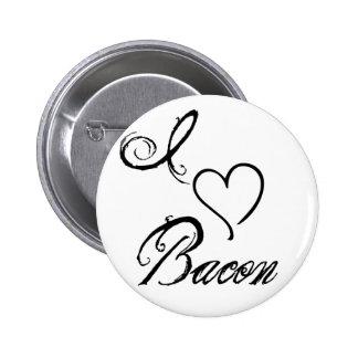I Heart Bacon Pinback Button