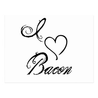 I Heart Bacon Postcard
