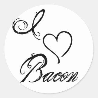 I Heart Bacon Round Sticker