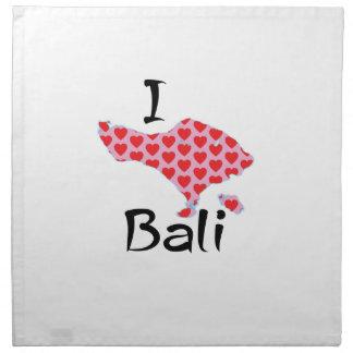 I heart Bali Napkin