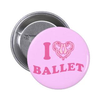 I Heart Ballet 6 Cm Round Badge