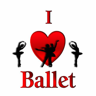 I Heart Ballet Photo Cut Outs