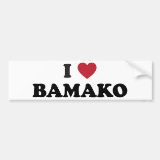 I Heart Bamako Mali Bumper Sticker