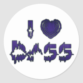 I Heart Bass Stickers