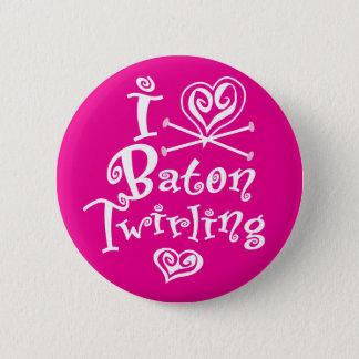 I Heart Baton Twirling 6 Cm Round Badge