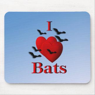 I Heart Bats Mouse Pad