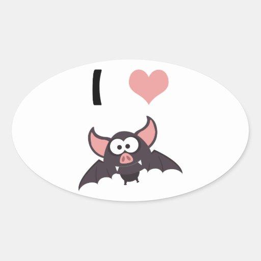 I heart bats stickers