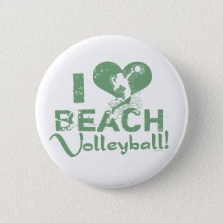 I Heart Beach Volleyball 6 Cm Round Badge