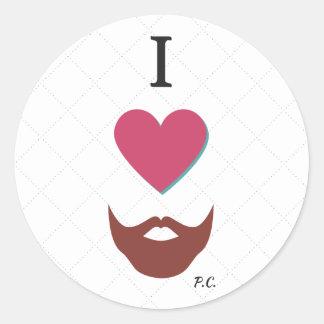 I Heart Beards Sticker