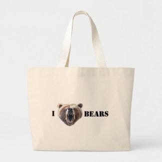 I HEART BEARS LARGE TOTE BAG