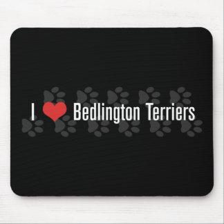 I (heart) Bedlington Terriers (Dark) Mouse Pad