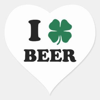 I Heart Beer Heart Sticker