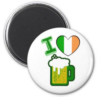 I Heart Beer 6 Cm Round Magnet