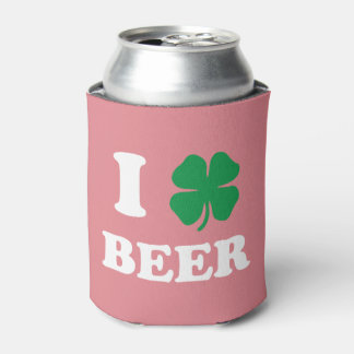 I Heart Beer Pink Can Cooler