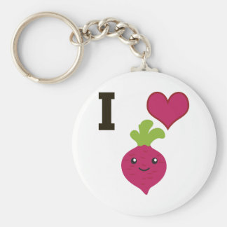 I Heart Beets Basic Round Button Key Ring