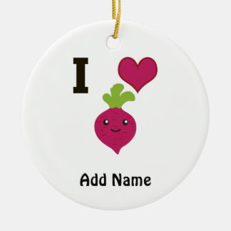 I Heart Beets Christmas Ornament