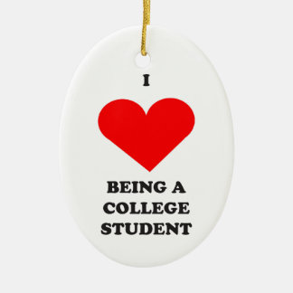 I HEART being a college student! Christmas Ornament