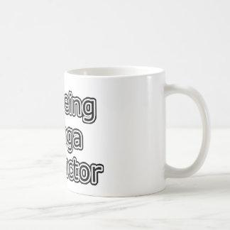 I Heart Being a Yoga Instructor Basic White Mug