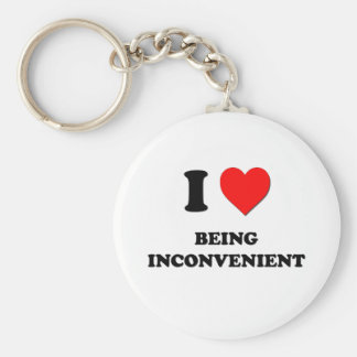I Heart Being Inconvenient Basic Round Button Key Ring