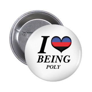I Heart Being Poly 6 Cm Round Badge