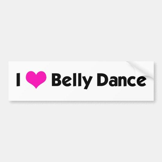 I *heart* Belly Dance - Custom Colour Bumper Sticker