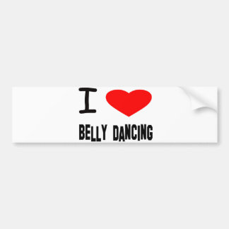 I Heart Belly Dancing Bumper Stickers