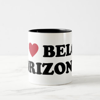 I Heart Belo Horizonte Brazil Two-Tone Mug