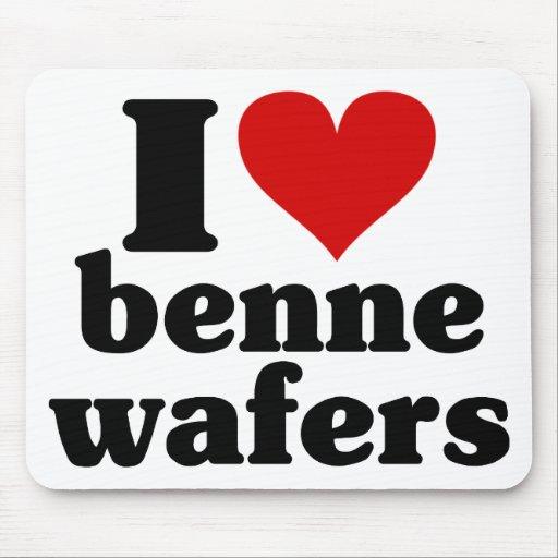 I Heart Benne Wafers Mousepad