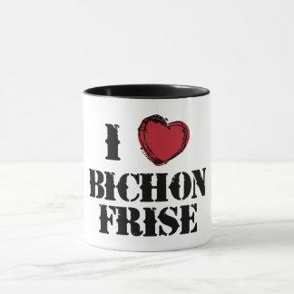 I (heart) Bichon Frise mug