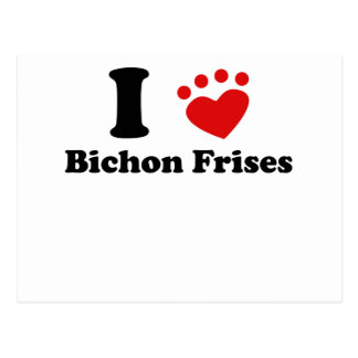 I Heart Bichon Frises Post Card