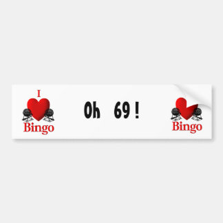 I Heart Bingo Bumper Sticker