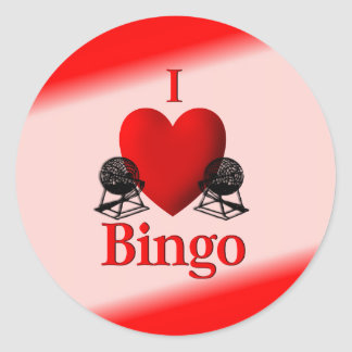I Heart Bingo Classic Round Sticker
