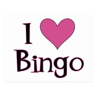 I Heart Bingo Postcard