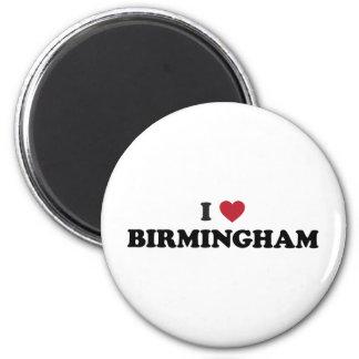 I Heart Birmingham England 6 Cm Round Magnet