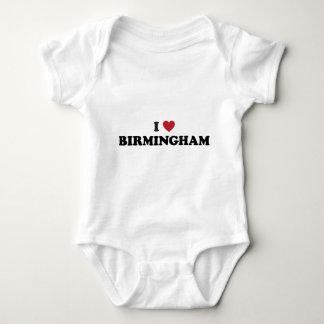 I Heart Birmingham England Baby Bodysuit