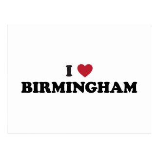 I Heart Birmingham England Postcards