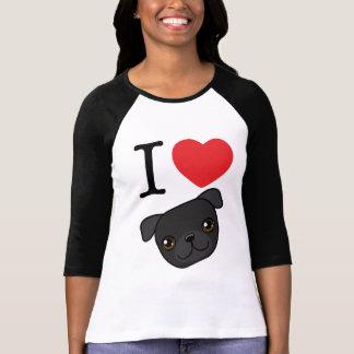 I Heart Black Pugs Tshirt