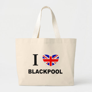I Heart Blackpool. Large Tote Bag