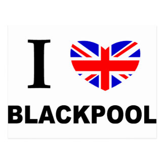 I Heart Blackpool. Postcard