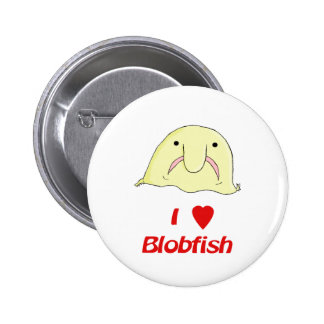 I heart blob 6 cm round badge