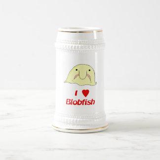 I heart blob beer steins