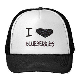 I Heart Blueberries Cap