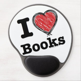 I Heart Books! I Love Books! (Scribbled Lines) Gel Mouse Pads