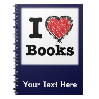 I Heart Books! I Love Books! (Scribbled Lines) Notebook