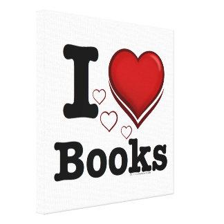 I Heart Books! I Love Books! (Shadowed Heart) Canvas Print