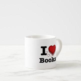 I Heart Books! I Love Books! (Shadowed Heart) Espresso Mug